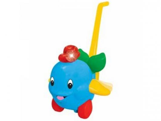Каталка на палочке Kiddieland Дельфин голубой от 1 года пластик KID 049577 kiddieland игрушка каталка дельфин