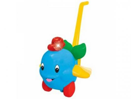 Каталка на палочке Kiddieland Дельфин голубой от 1 года пластик KID 049577 каталка на палочке s s toys вертолет желтый от 1 года пластик