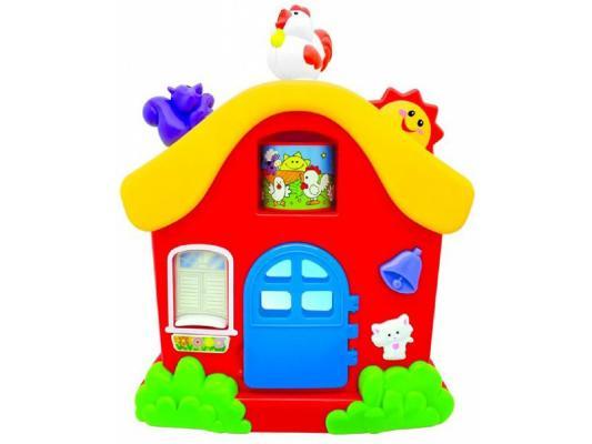 Интерактивная игрушка Kiddieland Домик от 1 года разноцветный KID 051466 интерактивная игрушка жирафики бубен 633229 от 1 года разноцветный