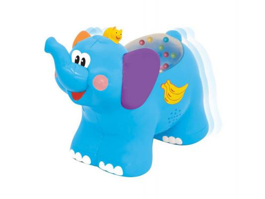 Интерактивная игрушка Kiddieland Слоненок до 1 года синий KID 051698 каталки игрушки kiddieland слоненок kid 051698