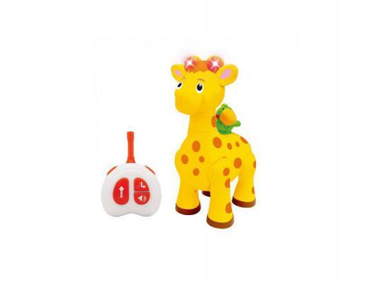 Интерактивная игрушка Kiddieland Жираф с пультом управления от 1 года жёлтый 051714 howells aphrodisia angel baby pengiun розовое виброяйцо с выносным пультом управления