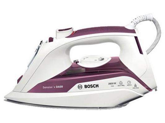лучшая цена Утюг Bosch TDA 5028110 2800Вт пар.удар 180 г/мин бело-фиолетовый