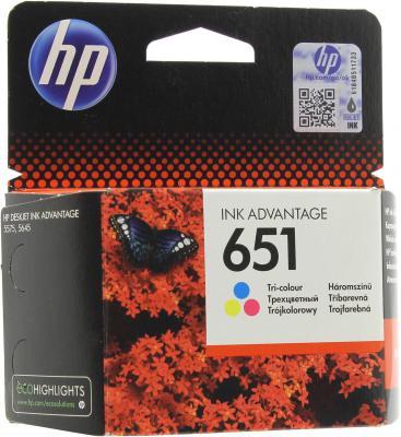 Картридж HP 651 C2P11AE для DeskJet Ink Advantage 5575 цветной
