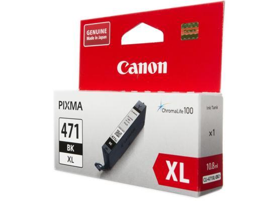 Картридж Canon CLI-471XLBK для Canon PIXMA MG5740 PIXMA MG6840 PIXMA MG7740 810 Черный 0346C001 картридж canon pgi 470 pgbk для canon pixma mg5740 pixma mg6840 pixma mg7740 300 черный 0375c001