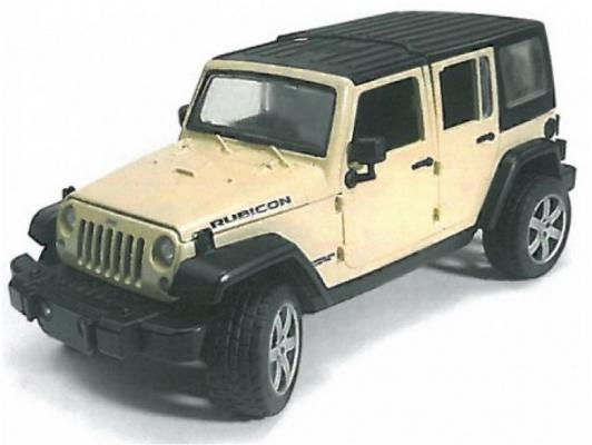 Автомобиль Bruder Wrangler Unlimited Rubicon 1:16 бежевый 02-525