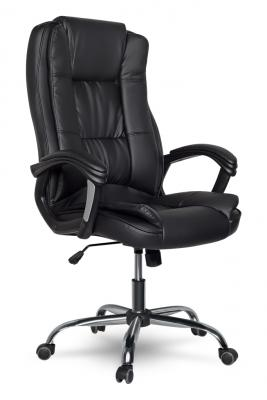 Кресло руководителя College XH-2222 кожа черный