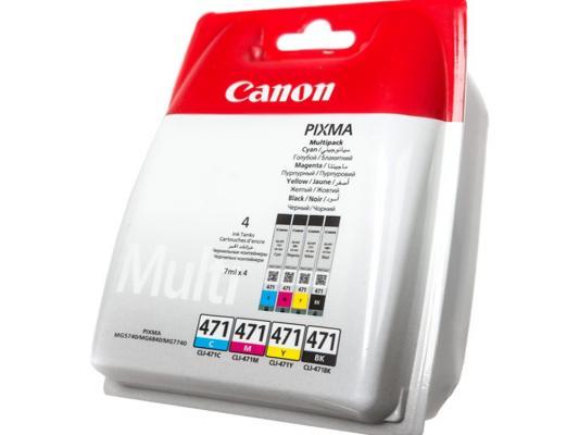 Картридж Canon CLI-471 BK/C/M/Y для MG5740 MG6840 цветной 0401C004 картридж canon cli 8 c m y multipack 0621b029