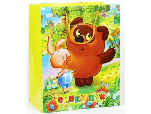 Пакет подарочный Весёлый Праздник Винни Пух 33x46х20 см 1 шт от 123.ru