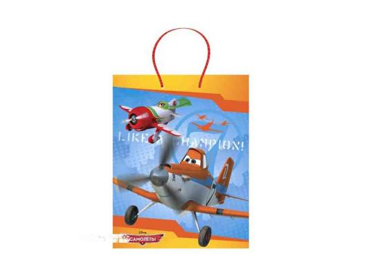 Пакет подарочный Весёлый Праздник Disney Самолеты 26 х 32 х 14 см 1 шт CLRBG-PL-02 от 123.ru