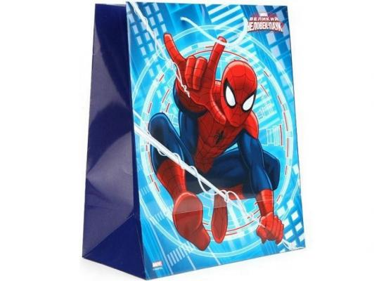 Пакет подарочный Весёлый Праздник Человек-паук 33x46х20 см CLRBG-SPM-03 пакет подарочный весёлый праздник мама для мамонтёнка 33x46х20 см clrbg em 03
