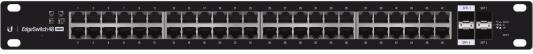 Коммутатор Ubiquiti EdgeSwitch 48 Lite управляемый 48 портов 10/100/1000Mbps 2xSFP+ 2xSFP ES-48-Lite(EU) маршрутизатор mikrotik ccr1036 8g 2s 8x10 100 1000mbps 2xsfp 1xmicrousb
