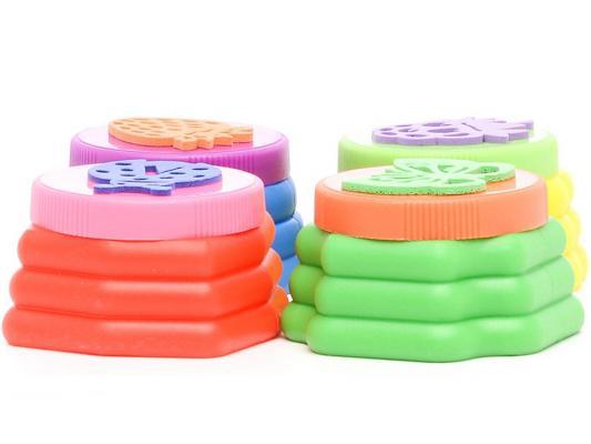 Пальчиковые краски Multi Art Маша и Медведь с печатями 4 цвета 430FPS-MM02