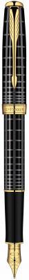 Перьевая ручка Parker Sonnet F531 Dark Grey Laquer GT 0.8 мм S0912440