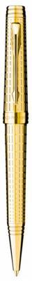 Фото - Шариковая ручка поворотная Parker Premier DeLuxe K562 Chiselling GT черный синий M S0887960 ручки parker s1859483