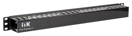Кабельный органайзер ITK 1U с крышкой черный CO05-1PC органайзер autolux пластиковый с крышкой a15 1503 c