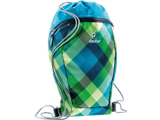 Мешок для сменной обуви SCHOOL SNEAKER BAG СИНЕ-ЗЕЛЕНАЯ КЛЕТКА DEUTER 3890115-3216