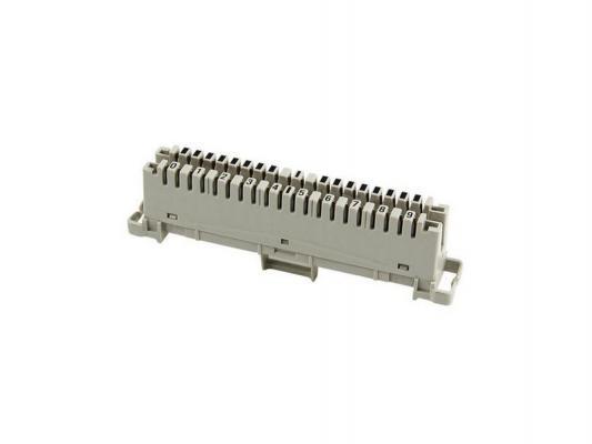 Плинт соединительный ITK PL10P-CON10 аналог Krone маркировка 0-9 серый rigal маркировка