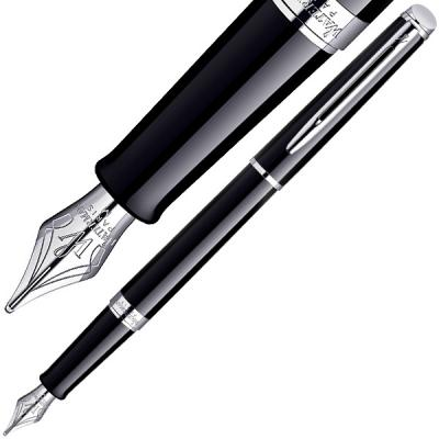 Перьевая ручка Waterman Hemisphere Mars Black CT синий F перо F, S0920510 перьевая ручка waterman hemisphere deluxe black ct синий f перо f s0921090