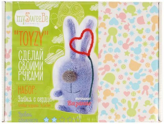 Набор для вязания Toyzy Зайка с сердцем от 6 лет TZ-K004