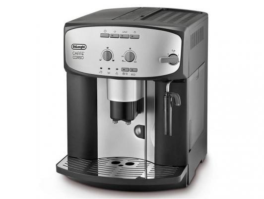 Кофемашина DeLonghi ESAM 2800.SB мощность 1450Вт, давление помпы 15Бар, регулировка степени помола, тип кофе- молотый/зерновой, самоочистка, каппучина