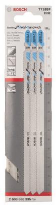 Лобзиковая пилка Bosch 3шт 2608636335 usb ac battery charging cradle 1500mah battery eu adapter for sony ericsson xperia arc lt15i x12