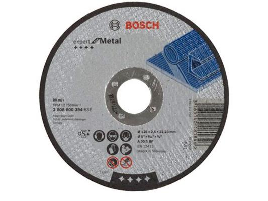 Отрезной круг Bosch 125х2.5х22.23мм 2608600394 круг отрезной bosch по камню 125x22x2 5