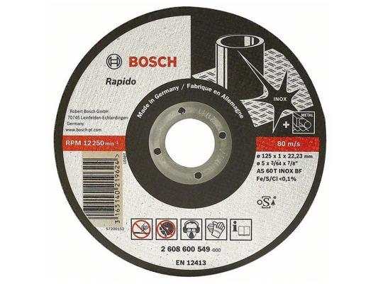 Отрезной круг Bosch Inox 125х1мм 2608600549 круг отрезной bosch по камню 125x22x2 5
