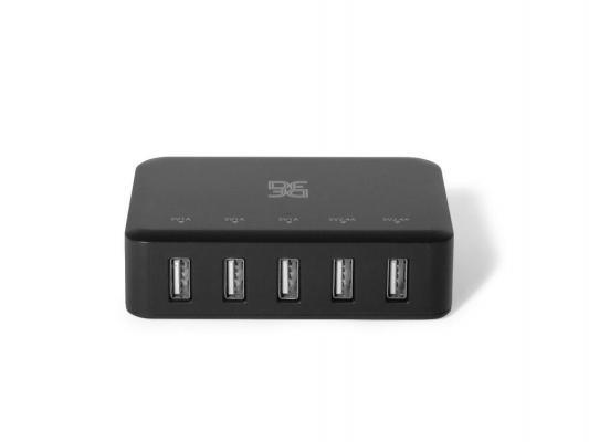 Сетевое зарядное устройство DF PORT-CHARGER-02 2.4А черный