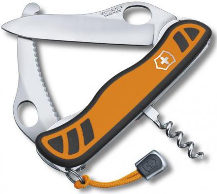 Нож охотника Victorinox Hunter XS One Hand 0.8331.MC9 111мм с фиксатором 5 функций оранжево-черный