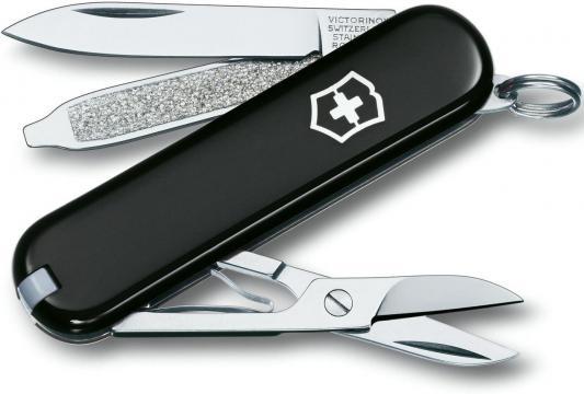 Нож перочинный Victorinox Classic 0.6223.3 58мм 7 функций черный
