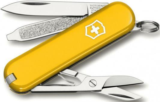 Нож перочинный Victorinox Classic 0.6223.8 58мм 7 функций желтый