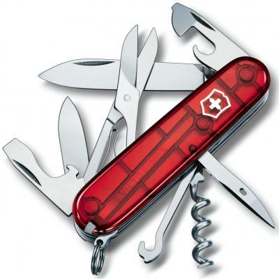 Нож перочинный Victorinox Climber 1.3703.T 91мм 18 функций полупрозрачный красный