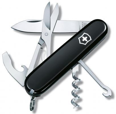 Нож перочинный Victorinox Compact 1.3405.3 91мм 15 функций черный