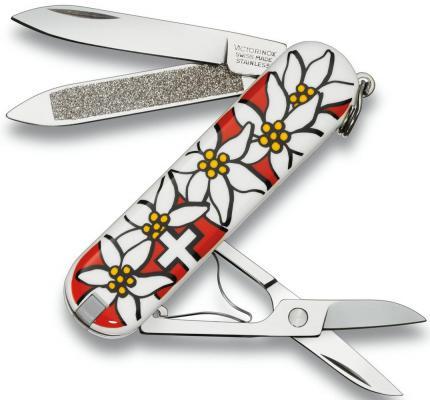 """Нож перочинный Victorinox Edelweiss 0.6203.840 58мм 7 функций дизайн рукояти """"Эдельвейс"""""""