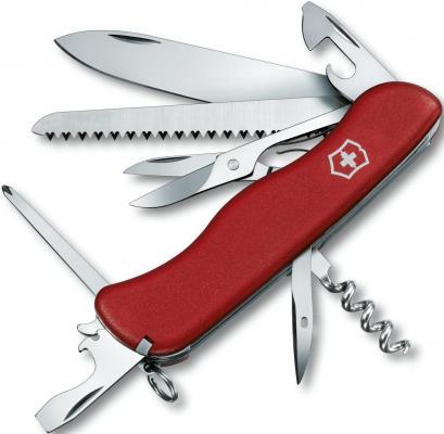 Нож перочинный Victorinox Outrider 0.9023 с фиксатором лезвия 14 функций красный