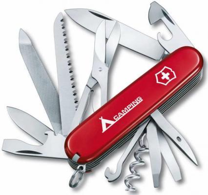 """Нож перочинный Victorinox Ranger 1.3763.71 91мм 21 функция красный с логотипом """"camping"""""""