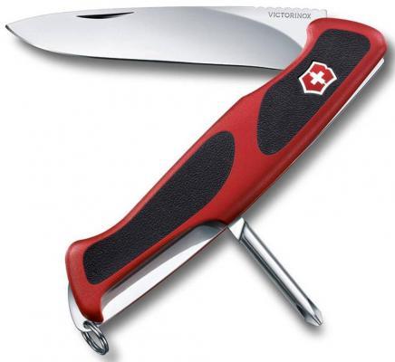 Нож перочинный Victorinox RangerGrip 53 0.9623.C 130мм 5 функций красно-чёрный