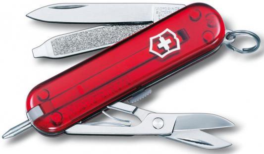 Нож перочинный Victorinox Signature Ruby 0.6225.T 58мм 7 функций полупрозрачный красный