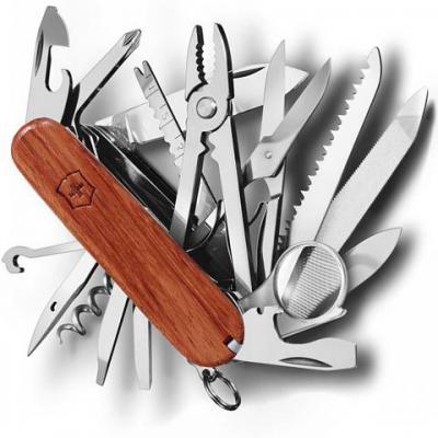 Нож перочинный Victorinox SwissChamp 1.6794.69 91мм 29 функций твердая древесина