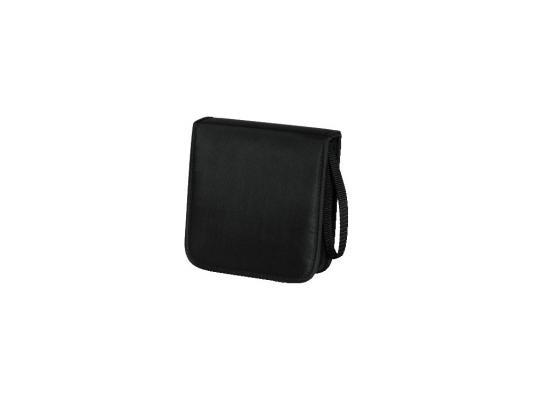 Портмоне HAMA Nylon для 20 CD черный H-33830 цена и фото
