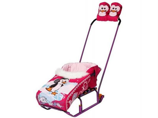 Комплект для санок RT Пингвиненок розовый 4987 утеплитель для санок rt с конвертом для ног шустрик люкс мороз иванович черный 2757