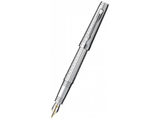 Ручка перьевая Parker Premier DeLuxe F562 перо F серебристый S0887970