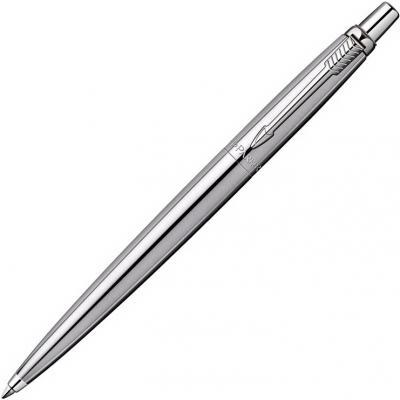 Шариковая ручка автоматическая Parker Jotter Steel K61 Steel CT синий M S0705560