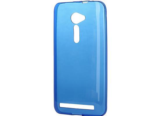 Чехол силикон iBox Crystal для Asus Zenfone 2 ZE500CL синий аксессуар чехол накладка asus zenfone 2 ze550 551ml ibox crystal transparent