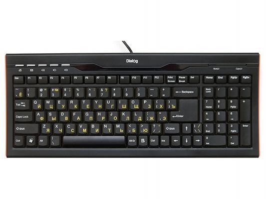 Клавиатура Dialog KP-114BU USB черный