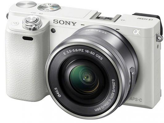 Фотоаппарат Sony Alpha A6000 Kit 16-50мм PZ белый ILCE6000LW.CEC sony alpha a6000lb