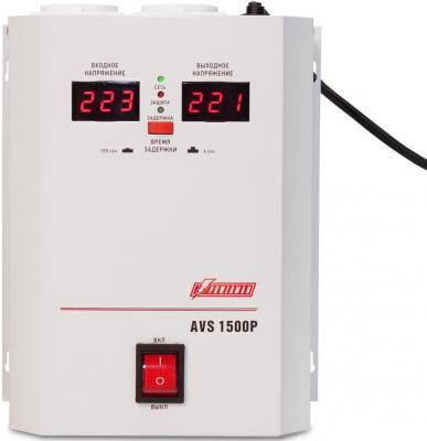 Стабилизатор напряжения Powerman AVS-1500P белый 2 розетки