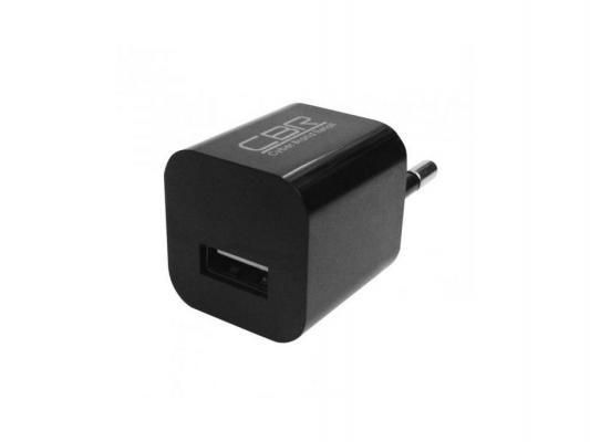 Фото - Сетевое зарядное устройство CBR Human Friends Max Power Solo USB 1A черный сетевое зарядное устройство continent zn10 194rd 1a usb красный