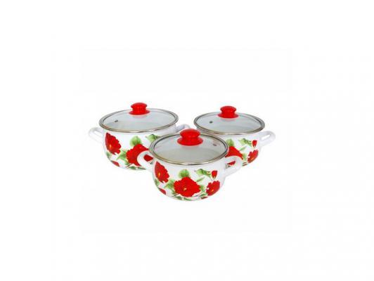 Набор кастрюль INTEROS 2392 Каркаде 4 л 20 см набор посуды interos 15231 маслины