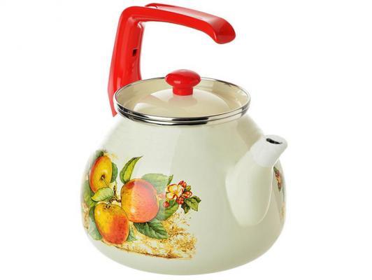 Чайник INTEROS 15199 3 л нержавеющая сталь рисунок кастрюля interos 15199 яблоки 5 1 л